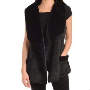 Kendall & Kylie black fur vest nwt